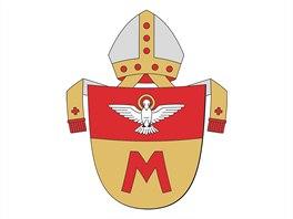 Královéhradecká diecéze má od ledna 2014 nový znak., vytvořil jej kardinál di...