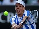 Český tenista Tomáš Berdych hraje osmifinále Australian Open.