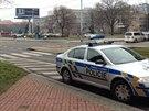 Místo, kde ve Vysočanech ujíždějící řidič srazil chodce