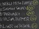 Denní menu na tabuli