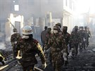 Podle zprávy agentury Nová Čína oheň propukl v noci a zachvátil ulice víc než...