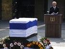 Americký viceprezident Joe Biden při projevu během smutečního obřadu (13. ledna)