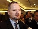 Favorit na předsedu strany, exministr Petr Fiala, na 24. kongresu ODS v...