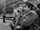 Na Václavském náměstí v Praze zasahovaly během Palachova týdne i příslušníci...