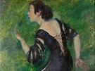 """Emil Orlik: """"Tanečnice Macara"""", 1909, 102 x 73 cm, signováno, vyvolávací cena:"""