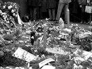 Protest na V�clavsk�m n�m�st� v Praze po smrti studenta Jana Palacha. (leden...