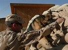 Německý ovčák Athos v Afghánistánu