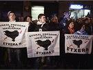 Protestu za práva vězněných členů separatistické organizace ETA se ve