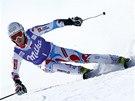 Thomas Fanara v obřím slalomu v Adelbodenu