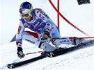 Alexis Pinturault v obřím slalomu v Adelbodenu