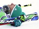 Felix Neureuther se raduje z vítězství v obřím slalomu v Adelbodenu.