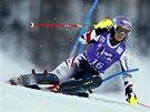 Michaela Kirchgasserov� v superkombina�n�m slalomu v Zauchensee.