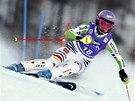 Maria H�flov�-Rieschov� v superkombina�n�m slalomu v Zauchensee.