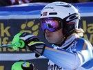 Henrik Kristoffersen v cíli slalomu v Adelbodenu.