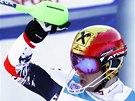 TRIUMF. Marcel Hirscher  v cíli slalomu v Adelbodenu.