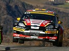 Vůz Martina Prokopa a Zdeňka Sluky v tréninku před Rallye Monte Carlo.