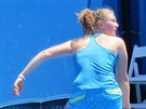 Česká tenistka Kateřina Siniaková při své premiéře na Australian Open.