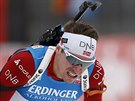 Norsk� biatlonista Emil Hegle Svendsen b�hem z�vodu Sv�tov�ho poh�ru v...