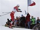 Norský sdruženář Magnus Krog během závodu Světového poháru v severské kombinaci...