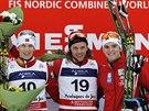 NOROVÉ. První tři místa na závodu Světového poháru v severské kombinaci v...