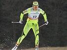Běžec na lyžích Katja Visnar v kvalifikaci sprintu SP v Novém Městě na Moravě