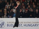 Krasobruslař Tomáš Verner během volného programu na evropském šampionátu v...