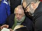 Kubánský exprezident Fidel Castro se překvapivě objevil na slavnostním otevření