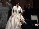 John Treleaven v roli Tannhäusera a Adriana Kohútková jako Alžběta ve Státní...