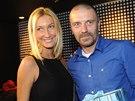 Tomáš Řepka a modelka Dominika Mesarošová