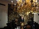 Miloš Zeman hovoří o jmenování Sobotkovy vlády. (10. ledna 2014)