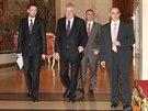 S kandidáty do vlády, s nimiž přišly ČSSD, ANO a KDU-ČSL, bude chtít prezident...