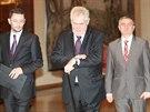 Miloš Zeman se vyjádřil k politické situaci. (10. ledna 2014)