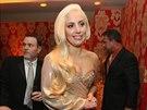 Lady Gaga na party po p�ed�v�n� Zlat�ch gl�b� (12. ledna 2014)