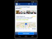V aplikaci lze přímo platit ubytování pomocí kreditní karty, případně jej měnit...
