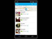 Každá lokace nebo podnik pak také nabízí přehled informací o službách, kontakty...