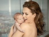 Herečka Andrea Kerestešová s dvouměsíčním Ondrou