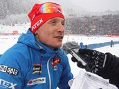 ROZLADĚNÝ. Ondřej Moravec nebyl po sprintu SP v Anterselvě spokojený. O lepší...