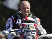 Motocyklový jezdec Eric Palante na Dakaru
