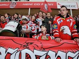 Fanoušci hokejového Znojma.