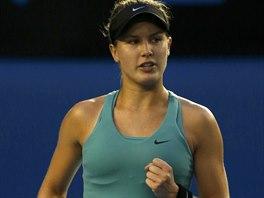 Kanadsk� tenistka Eugenie Bouchardov� postoupila do �tvrtfin�le Australian Open.