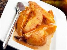 Karamelové hrušky s medem a oříšky