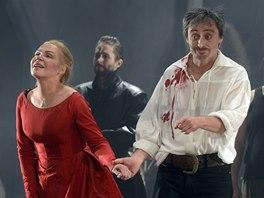 Z derni�ry hry Cyrano!! Cyrano!! Cyrano!! (Dagmar Havlov�, Martin Stropnick�)