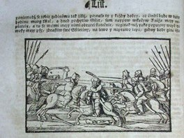 List z prvního vydání Hájkovy kroniky (1541)