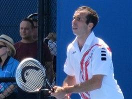 Radek Štěpánek v prvním kole na Australian Open.