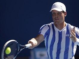 Tomáš Berdych ve třetím kole na Australian Open.