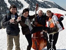 Val di Fiemme, jazz na sněhu v rámci hudebního festivalu Dolomity Ski Jazz