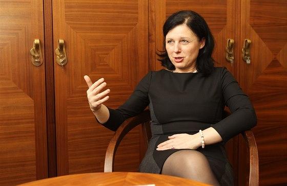 Budouc� ministryn� pro m�stn� rozvoj V�ra Jourov� (23. ledna 2014)