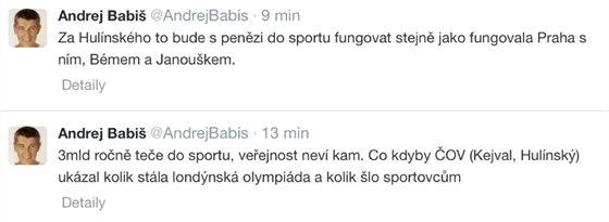 Andrej Babiš glosoval jednání s šéfem ČSSD na svém profilu na sociální síti...