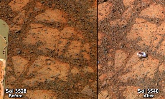 Před a po: záběry z 26. prosince (vlevo) a 8. ledna, na kterých je jasně vidět...
