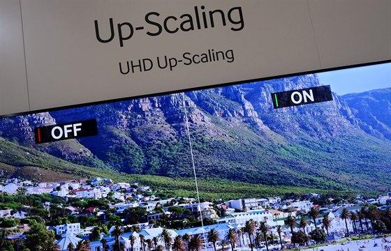 Jak Samsungu upscaling funguje jsme mohli v reálném čase pozorovat na trochu...